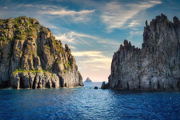L'isola di Stromboli nelle Isole Eolie