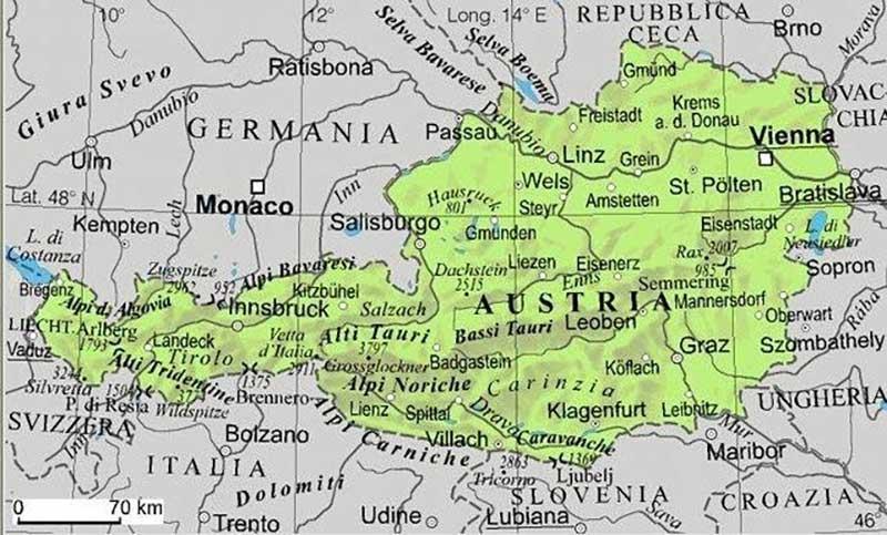 Cartina Austria Stradale.Cartina Di Austria Scarica Cartina Di Austria In Alta Qualita Dati Da Europa