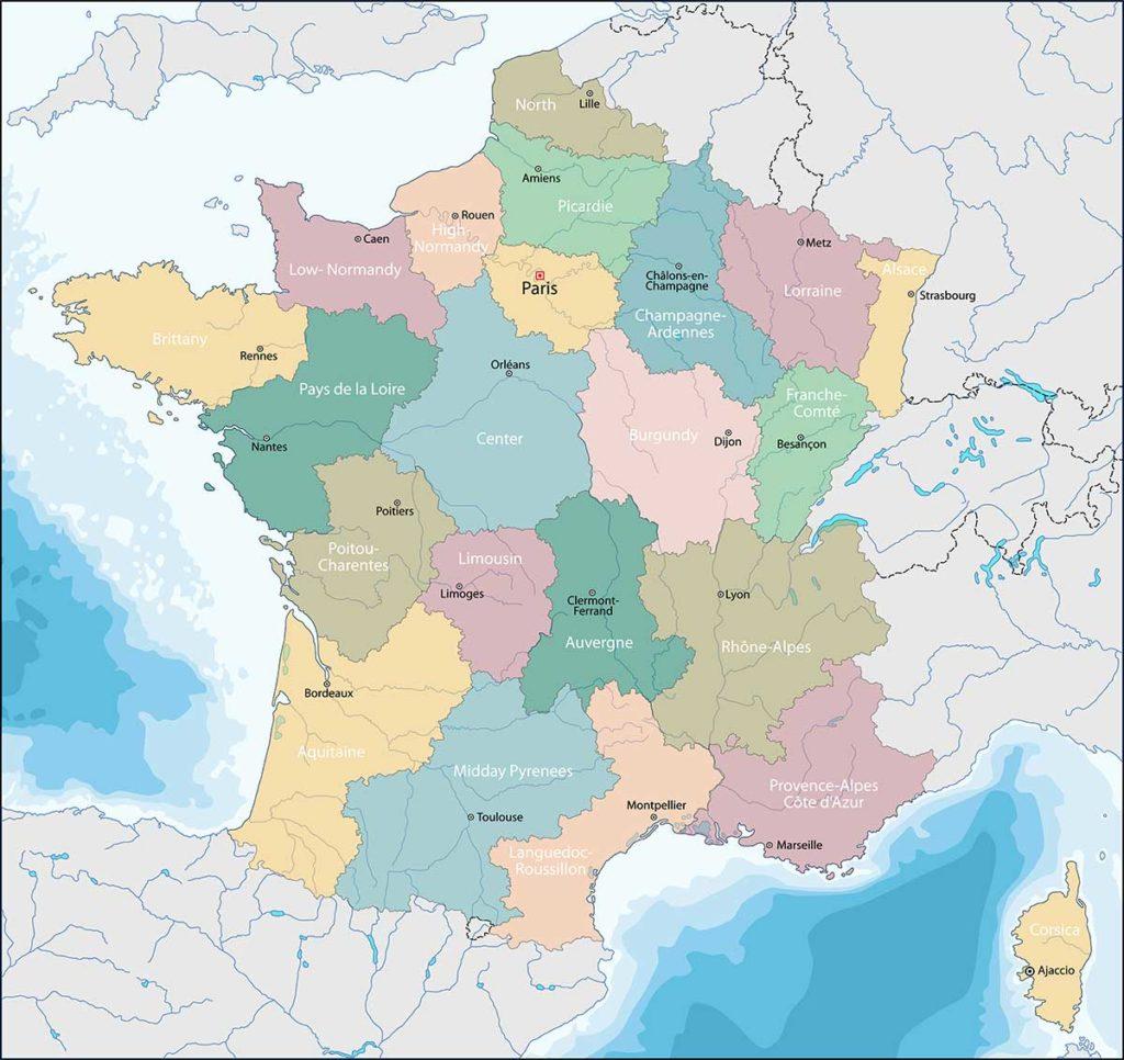 Cartina Francia Sud Dettagliata.Cartina Della Francia Scarica Cartina Della Francia In Alta Qualita Dati Da Europa