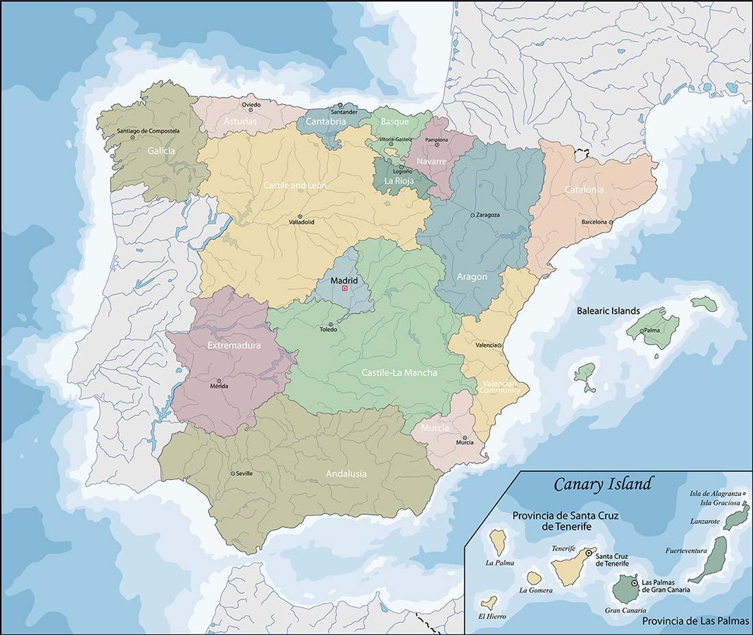Cartina Geografica Spagna E Formentera.Valencia Spagna Cartina Geografica