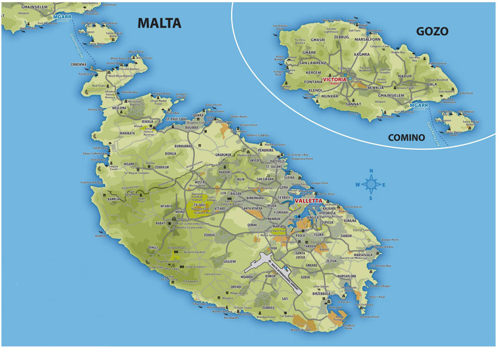 Sicilia Occidentale Cartina Stradale.Cartina Di Malta Scarica Cartina Di Malta In Alta Qualita Dati Da Europa