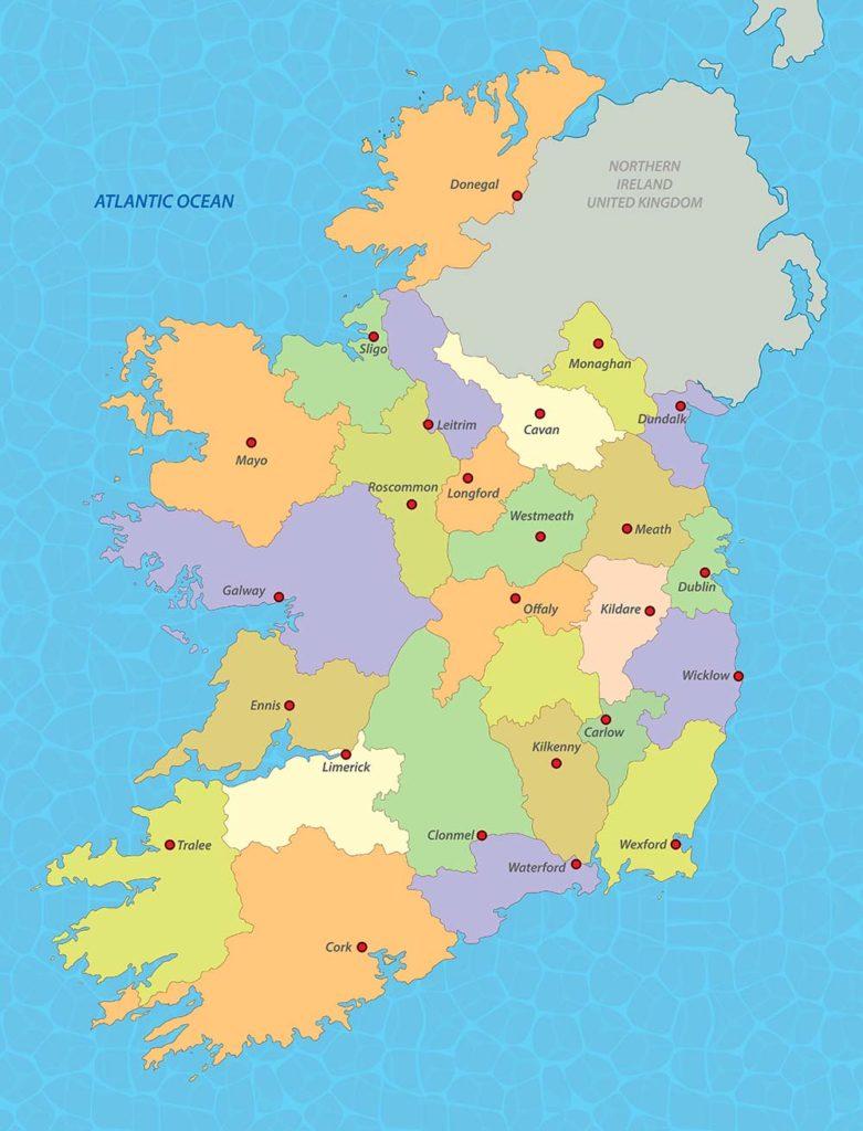 Mappa politica Irlanda