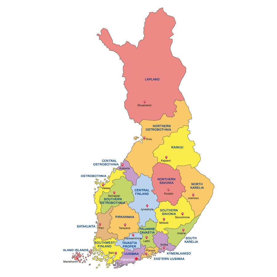 Cartina Geografica Norvegia Fisica.Cartina Di Finlandia Scarica Cartina Di Finlandia In Alta Qualita Dati Da Europa