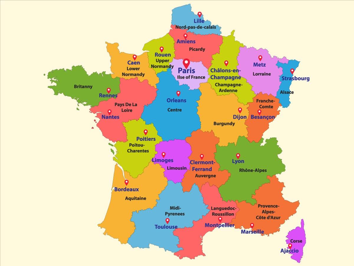 Foto Della Cartina Della Francia.Cartina Di Francia Scarica Cartina Di Francia In Hd Dati Da Europa