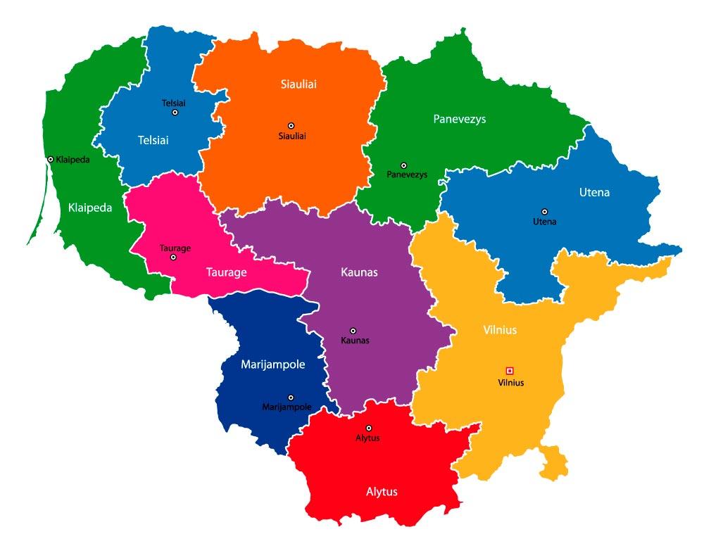 Cartina Fisica E Politica Della Russia.Cartina Della Lituania Scarica Cartina Della Lituania In Alta Qualita Dati Da Europa