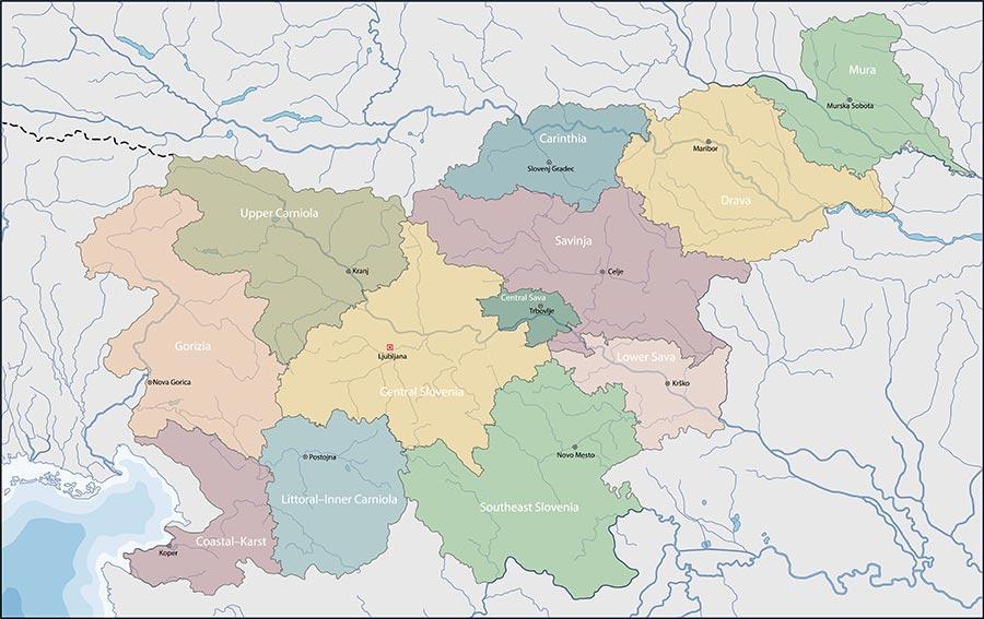 Cartina Della Slovenia E Croazia.Cartina Della Slovenia Scarica Cartina Della Slovenia In Alta Qualita Dati Da Europa