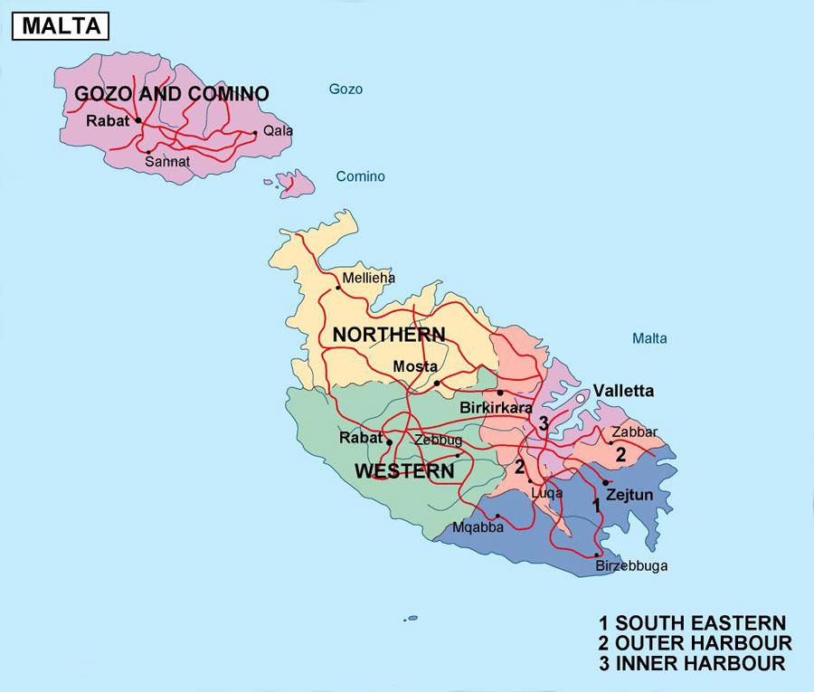 Malta Cartina Stradale.Cartina Di Malta Scarica Cartina Di Malta In Hd Dati Da Europa