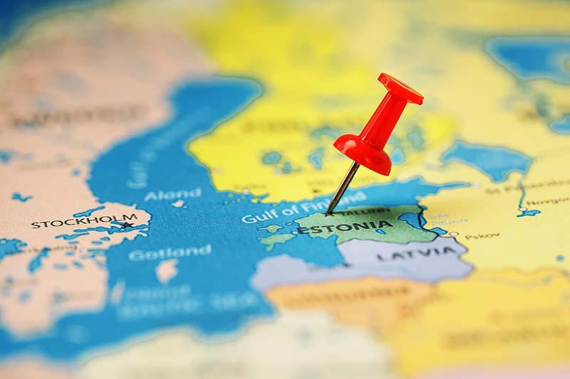 Posizione di Estonia in Europa