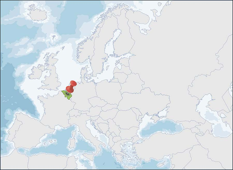 Posizione sulla mappa del Belgio