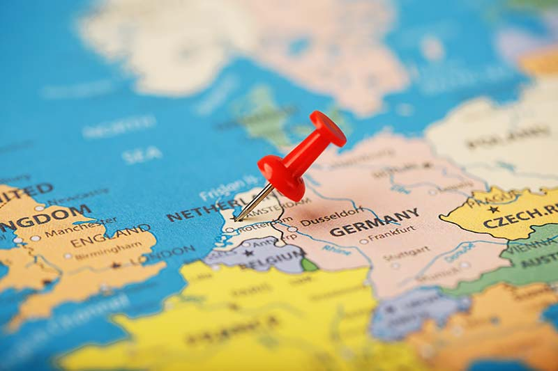 Situazione in Europa dei Paesi Bassi
