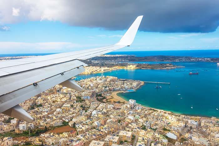 Vista della costa di Malta
