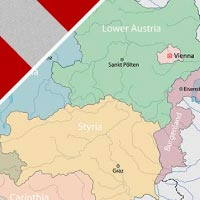 Cartina Austria