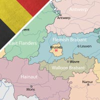 Cartina Belgio