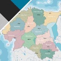 Cartina Estonia