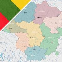 Cartina Lituania