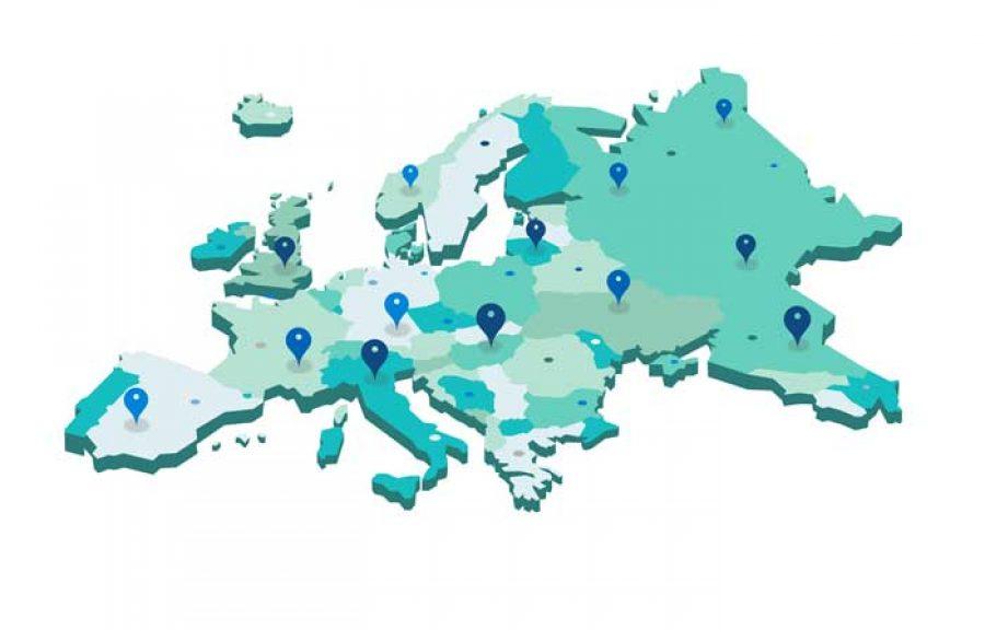 Mappa di Europa in 3D